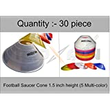 ROXAN MULTI COLOR SMALL SAUCER MARKER CONE/TRACK AND FIELD MARKER CONE PACK OF 30
