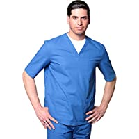 Ropa de trabajo para hospital/clínica, uniforme para profesional para personal sanitario. Color: azul azul claro S