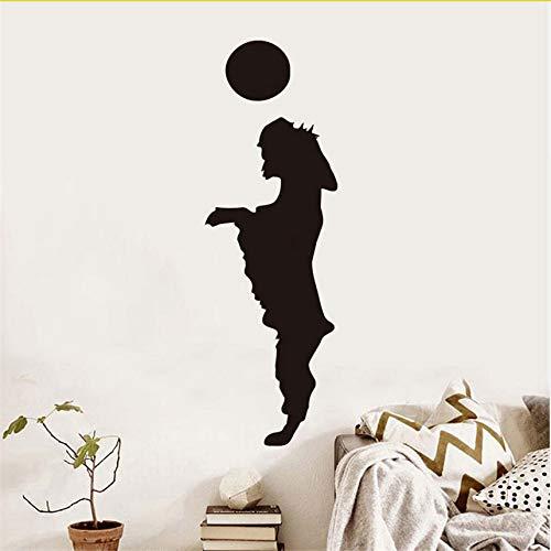 Wuyyii Hund Spielen Die Ball Vinyl Wandaufkleber Für Pet Shop Schöne Welpen Wandkunst Abnehmbare Wasserdichte Abziehbilder Für Kinderzimmer Dekoration 59X19 Cm