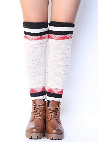 Gwanna Damen Beinlinge Sockenüberzug aus Diamant-Mesh (Farbe: Weiß) (Farbe : White) - Diamant-knie-socke