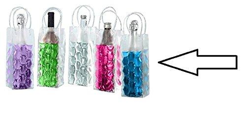joka international GmbH 2 Flaschenkühler Tasche mit Eisgel zum einfrieren Sektkühler Weinkühler blau