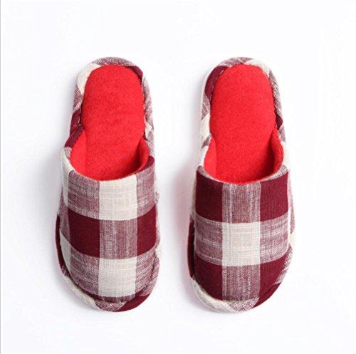 Mhgao quattro stagioni casa pantofole da donna morbido interno e il tempo libero Home pantofole 3