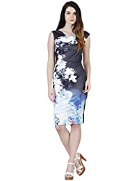 eff7e45892 Jaune French Vineyards Floral Collection - Blue Lily Print Black Dress