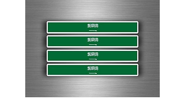 Akachafactory 4 X Selbstklebend Sticker Auto Moto Stripes Flagge Tuning Saudi Arabien Auto