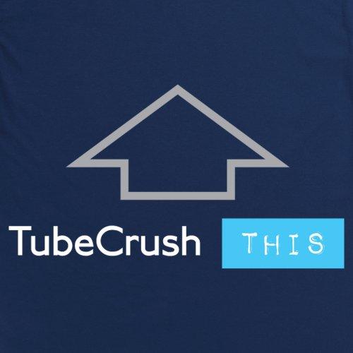 Tube Crush Up T-Shirt, Herren Dunkelblau
