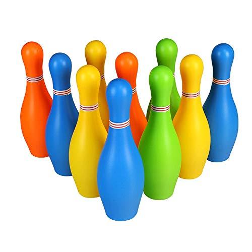 Bowling Set Bowling Pins Ball Spielzeug kleine Kunststoffe Bowling Set Spaß Indoor-Spiel mit 10 Mini-Pins und 2 Kugeln Spielzeug großes Geschenk für Baby Kinder Kleinkinder Jungen Mädchen Kinder Erwac