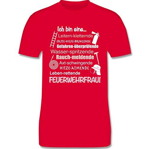 Feuerwehr - Ich bin eine ... Feuerwehrfrau! - Herren Premium T-Shirt Rot