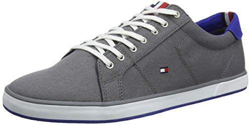 Tommy Hilfiger Herren H2285ARLOW 1D Low-Top Grau (Steel Grey 039) 43 EU