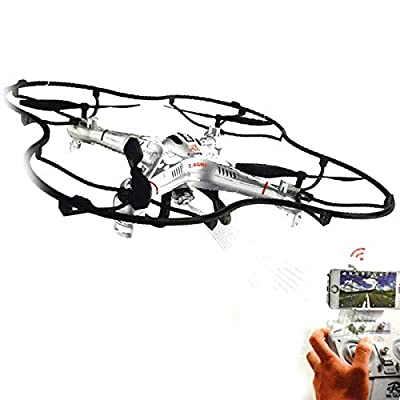 Drone 108W HD Camera - Wifi - 6 Channel - Headless Mode - Live on Screen Iphone or Android - Rotate flip from Rc Leading