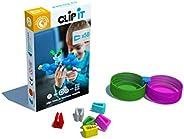 CLIP IT - jeu d'assemblage créatif, éducatif et durable, 90% surcyclé ! Boite de 50 clips- Thème papi