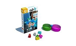 CLIP IT - Jeu d'assemblage créatif, éducatif et Durable, 90% surcyclé ! Boite de 50 Clips