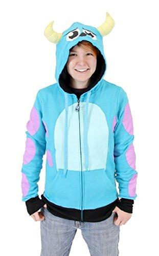 Disney Monsters University I Am Sully Junior Zip Up Hoodie Sweatshirt (Junior Large)