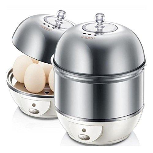 Eierkocher, 1-7 Eier, Edelstahl-gebürstet 360W , gray