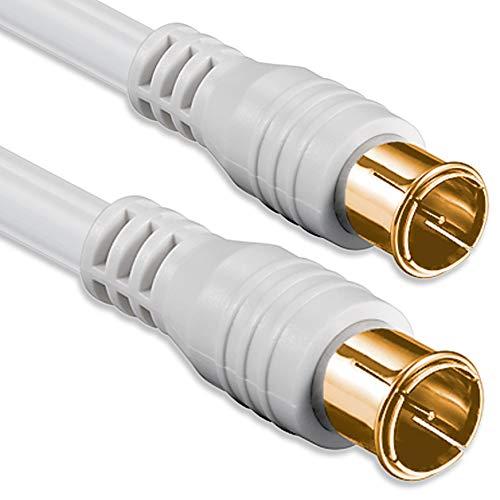 1aTTack.de Antennenkabel mit koaxialem F-Stecker, Typ Stecker auf Kupplung, mit EIN-, Zwei-, DREI- oder vierfacher Abschirmung, 75 db, 85 db, 100 db, 110 db, 120 db, 125 db 1,5 m - - ORO