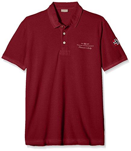 Napapijri Herren Poloshirt ELBAS New Rot (Russet Brown R57)