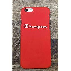 WRAP Coque iPhone 5 5S Se Champion Sportswear Logo Plastique Rigide (Rouge) 01