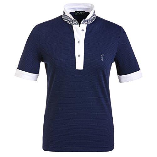 golfino-ladies-jacquard-golf-polo-with-printed-collar-blue-m