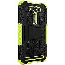 "Funda Duro Tapa Case Cover - TOOGOO(R)Para Asus ZenFone 2 Laser ZE500KL (5""), Funda Carcasa Duro Tapa Case Cover con soporte (verde) + Gratis aguja de la pantalla stylus universales"