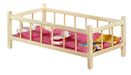 Tupiko Tupiko- L, letto in legno per bambole con cuscino