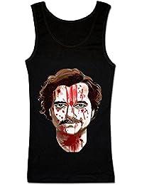 Pablo Escobar Face Covered In Blood Camiseta sin Mangas para Mujer
