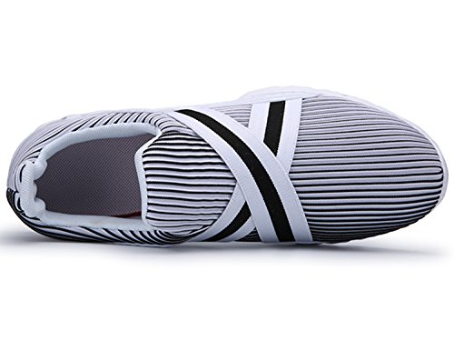 IIIIS-R Donna Scarpe da Ginnastica Corsa Sportive Running Sneakers Fitness Interior Casual all'Aperto Bianco