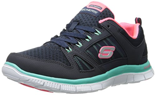 skechers-flex-appeal-adaptable-damen-sneakers-blau-nvgr-41-eu