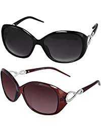 3dfbdcda6b Y S Womens Sunglasses Of 2 Combo Of 2 Sunglass (Black Brown) Wayfarer  Sunglasses For