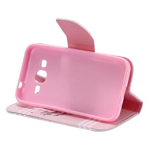 ANNN® En PU Cuir de Etui à rabat Fermeture Aimanté Housse Coque Pochette Portefeuille de Protection Case Cas Cuir Etui Pour Samsung Galaxy Core Prime / SM-G360--B04 B01