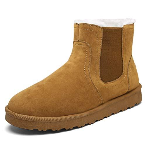 Pelz Gefüttert Warme Schneeschuhe Frauen Flache Plüsch Komfort Kaltes Wetter Outdoor Schuhe Mädchen Thermische Stiefel ()