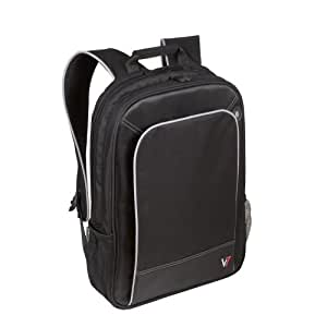 """V7 Professional laptop backpack for laptops up to 17"""" Black/ grey accents"""