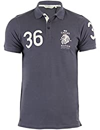 T-Shirt Polo hachuré style evangels manches courtes en coton col Casual Top