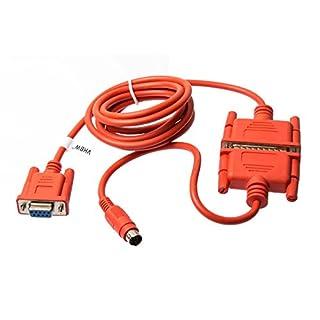 vhbw PLC câble de Programmation RS232, RS422, Mini-DIN pour Mitsubishi Melsec FX, FX0N, FX1N, FX2N, FXOS, FX1S, série A