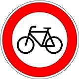 LEMAX® Schild Alu Verbot für Radfahrer Verkehrszeichen 254 420mm reflektierend