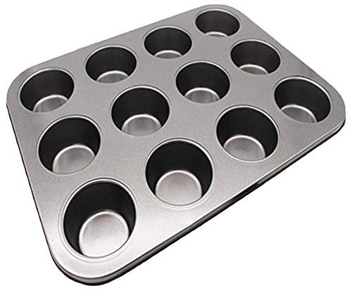 PENGYUE Backform Nonstick 12 Cup Muffin Und Cupcake Pan Kohlenstoffstahl Cannele Mold Backformen Für Die Zubereitung Von Cupcake Dessert 12-cup Bundt Pan