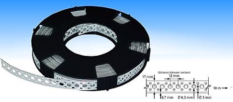 Industrie-Montageband / Lochband verzinkt 17mm x 0,7mm x 10m