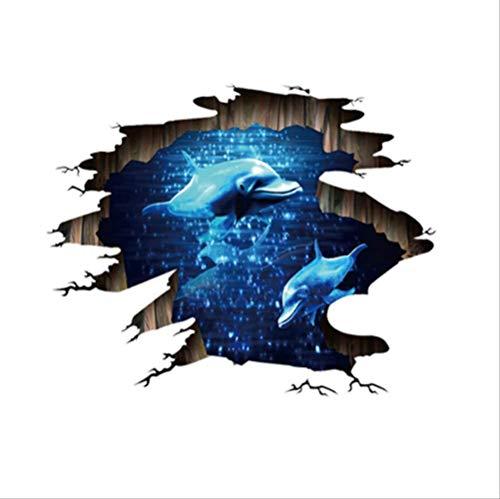 Explosion 3D Nebula Dolphin Site Malerei Mall Show Pvc Entfernt Wandaufkleber