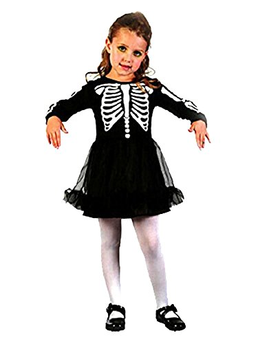 MissFox Halloween Kinder Niedlich Skelett Mädchen Kostüm Freesize