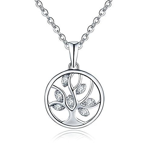 YL 925 Sterling Silver Baum des Lebens Damen Halskette mit