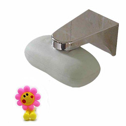 GOOTRADES Magnetische Seifenschalen Halter, Wandmontage für Badezimmer, Ordentlich und Praktisch, mit 1 Freien Zahnbürstenhalter
