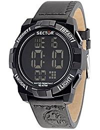 Sector Herren-Armbanduhr STREET FASHION Digital Quarz Leder R3251172046