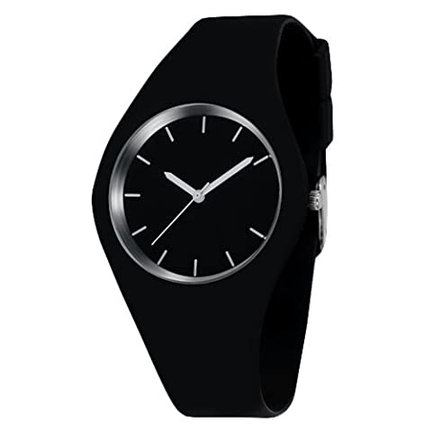 K9Q Delicate Casual Waterproof Alloy Analog Quartz Silicone Straps Wrist Watches