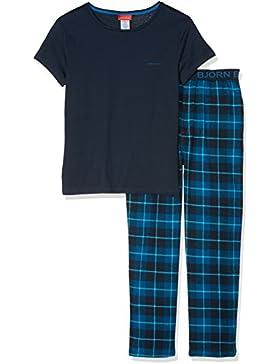 Björn Borg Pyjama Pants Check & BB Placed Logo Xmas Box, Pantalones de Pijama para Hombre (Pack de 2)