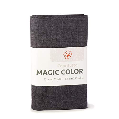 Desideri di casa magic telo copritutto, 60% cotone 40% poliestere, stone, 250x280,