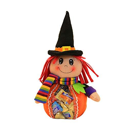 Exing Halloween Candy Jar Candy Bags Süßigkeitstasche Candy Totes Bag Kostüm Zubehör Totes Bag, Tuch, Vliesstoff,34x31cm (C)