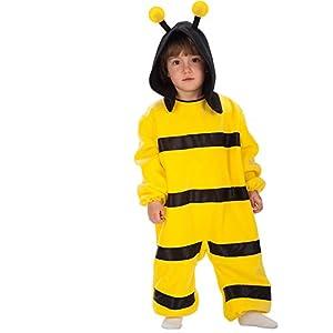 Carnival Toys 63036-Abeja, Disfraz para bebé con Capucha, 1-2años