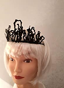 Tall black dramatic/mythical crown/tiara game of thrones inspired