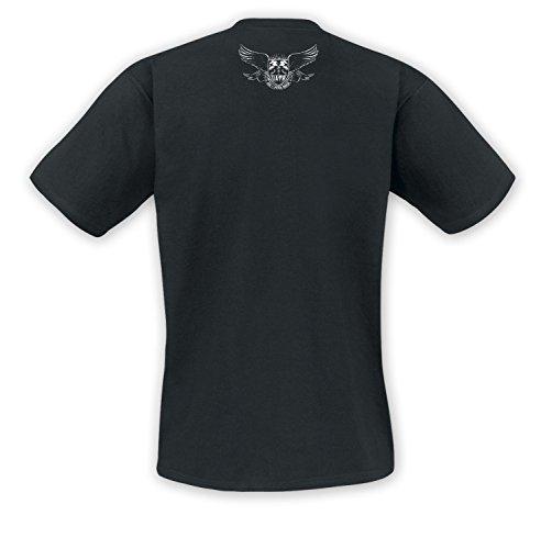 """Unantastbar - """"Red Star"""" T-Shirt, Farbe: Schwarz Schwarz"""
