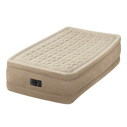 Intex Ultra Plush Raised Airbed with Fiber Technology and Built-in Pump (UK SPEC) #64456