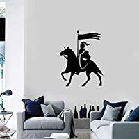 Mounted Knight Middle Ages Vinyl Wall Decal Home Decor Boys Room Art Mural Wallpaper Wall Stickers 58 * 76cm