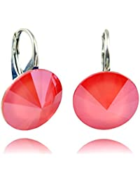 45c5ae276 Rivoli Crystals & Stones * Light Coral * * * 14 mm – Lovely Earrings Ladies  Earrings with Swarovski Elements…